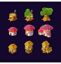 Cartoon element of the game fairy houses vector image vector image