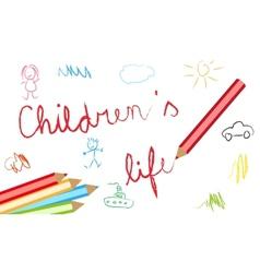 Childrens lives background vector