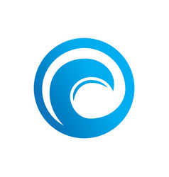 circle wave sign logo vector image