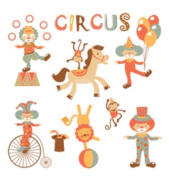 Circus performance vector image