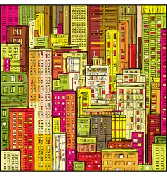 Cityscape hand-drawn vector image vector image