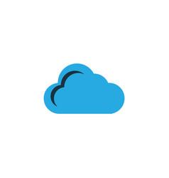 cloud colorful icon symbol premium quality vector image