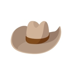 Cowboy hat cartoon icon vector image