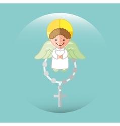 cute angels design vector image vector image