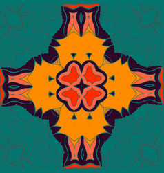 elegant mandala-like pattern on green seamless vector image