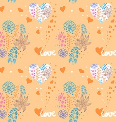 floral pattern Valentines Day vector image vector image