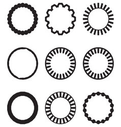 Frame round circle geometric set vector