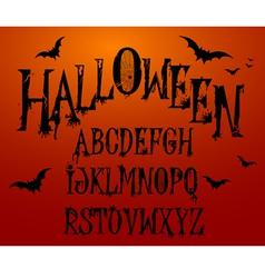 Halloween Splash Alphabet vector image