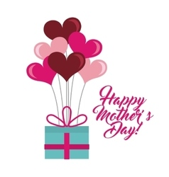 happy mothers day card design vector image