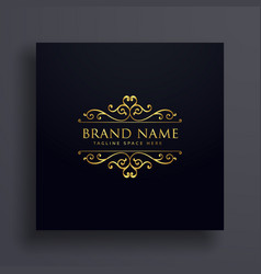 Luxury vip logo concept design for your brand vector