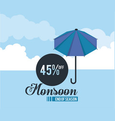 Monsoon big sales and discounts vector