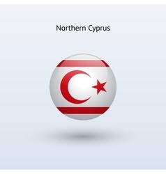 Northern cyprus round flag vector