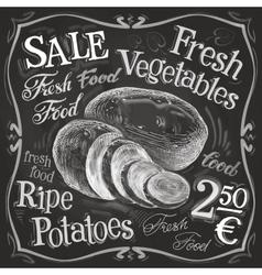 potato potatoes logo design template vector image