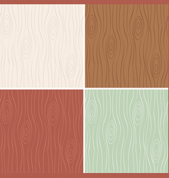 set of seamless pattern wood vector image