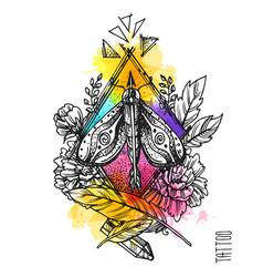 Tattoo element sketch vector