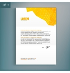 Template for advertising and corporate identity vector image vector image