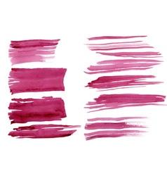 Watercolor strokes set vector