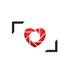 Wedding photography logo vector