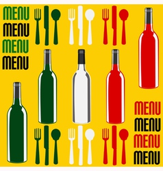 Wine or Restaurant Menu vector image