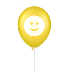 Yellow smile printed balloon vector