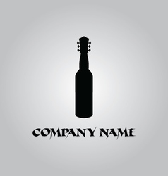 wine guitar logo vector image