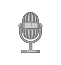 Microphone icon black monochrome style vector