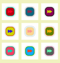 Set ofcolor label design icon design vector
