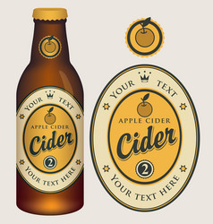 Label for apple cider with crown and inscription vector
