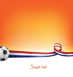 Netherlands background with soccer ball vector