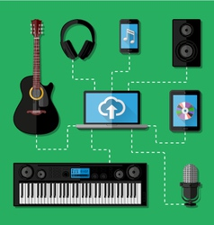 Music recording studio concept vector