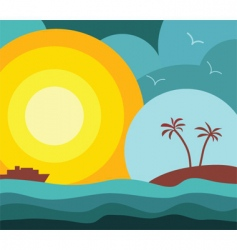 Island vacation vector