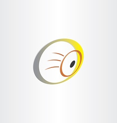 Human eye optics symbol vector