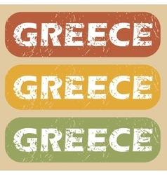 Vintage greece stamp set vector