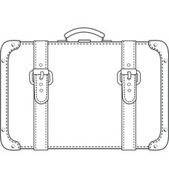 Leather suitcase vector