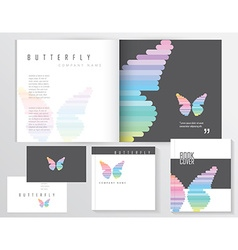 Buttefly template vector