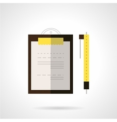 Clipboard and pen flat icon vector