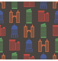 Seamless background with buildings vector