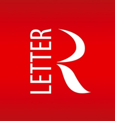 Logo abstract letter r on a red background vector