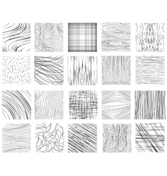 Hand drawn ink line textures vector