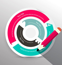 Paper circle infographic layout vector