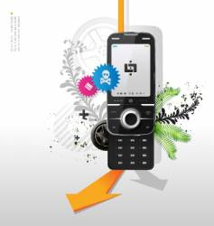 cellular telephone vector image