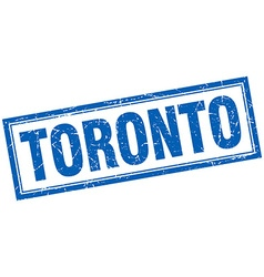 Toronto blue square grunge stamp on white vector