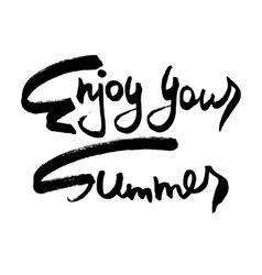 Enjoy your summer creative card vector
