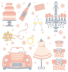 Cute bridal shower vector image