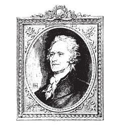 Alexander hamilton vintage vector