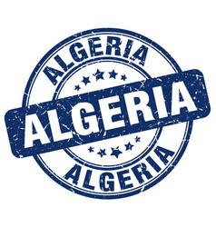Algeria blue grunge round vintage rubber stamp vector