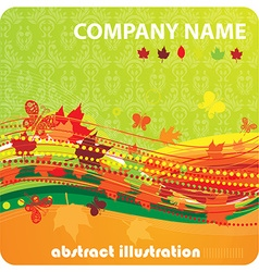 Autumn wallpaper for business design vector