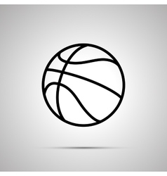 Basketball ball simple black icon vector image