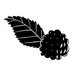 blackberry icon simple style vector image