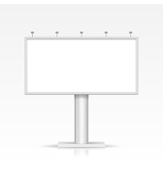 Blank Outdoor Billboard with Place for Message and vector image